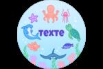 Au cœur de l'océan Étiquettes rondes - gabarit prédéfini. <br/>Utilisez notre logiciel Avery Design & Print Online pour personnaliser facilement la conception.