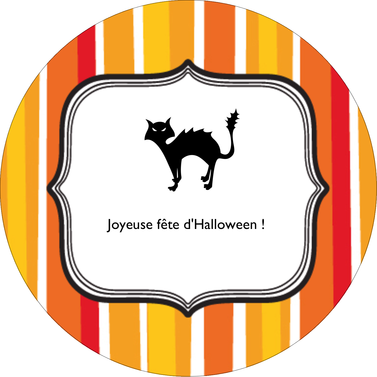 "3"" x 2¼"" Étiquettes arrondies - Halloween d'enfant"