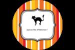 Halloween d'enfant Étiquettes arrondies - gabarit prédéfini. <br/>Utilisez notre logiciel Avery Design & Print Online pour personnaliser facilement la conception.
