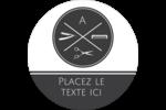 Trousse de toilette Étiquettes arrondies - gabarit prédéfini. <br/>Utilisez notre logiciel Avery Design & Print Online pour personnaliser facilement la conception.