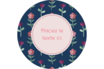 Fleurs délicates Étiquettes arrondies - gabarit prédéfini. <br/>Utilisez notre logiciel Avery Design & Print Online pour personnaliser facilement la conception.