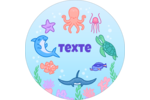 Au cœur de l'océan Étiquettes arrondies - gabarit prédéfini. <br/>Utilisez notre logiciel Avery Design & Print Online pour personnaliser facilement la conception.