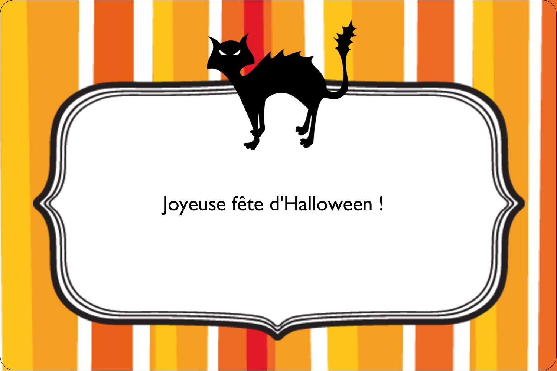 """3"""" x 3¾"""" Étiquettes rectangulaires - Halloween d'enfant"""
