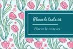 Fleurs picturales Étiquettes rectangulaires - gabarit prédéfini. <br/>Utilisez notre logiciel Avery Design & Print Online pour personnaliser facilement la conception.
