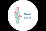 Fleurs picturales Étiquettes arrondies - gabarit prédéfini. <br/>Utilisez notre logiciel Avery Design & Print Online pour personnaliser facilement la conception.