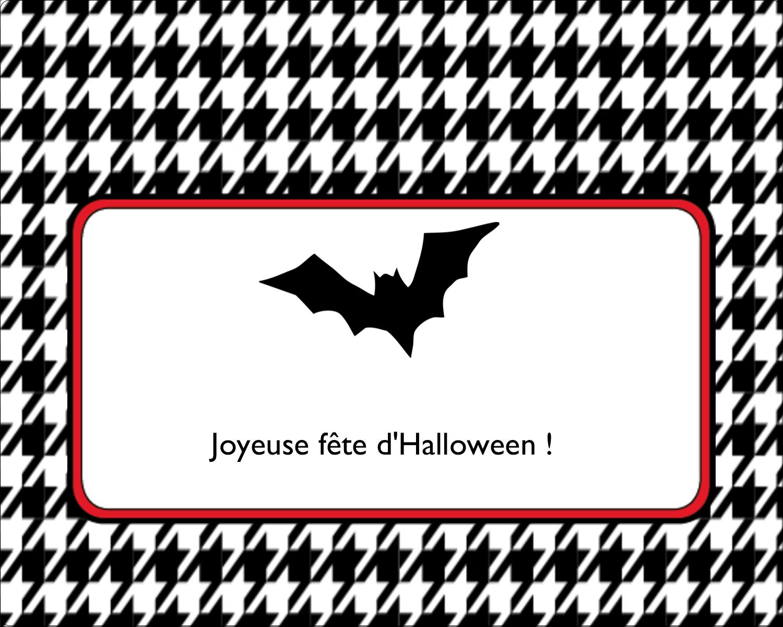 """2"""" Diameter Étiquettes rondes gaufrées - Halloween d'enfant"""