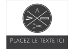 Trousse de toilette Étiquettes rondes gaufrées - gabarit prédéfini. <br/>Utilisez notre logiciel Avery Design & Print Online pour personnaliser facilement la conception.