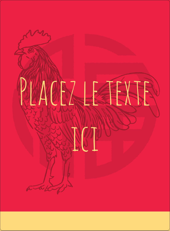 """2½"""" Diameter Étiquettes rondes - Année du coq"""