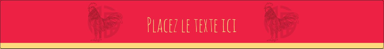 """1½"""" x 2½"""" Étiquettes ovales - Année du coq"""
