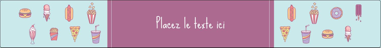 "1½"" x 2½"" Étiquettes ovales - Malbouffe Motif"