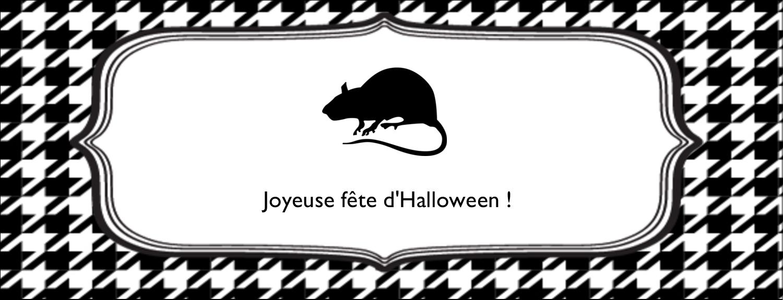 """1-7/16"""" x 3¾"""" Affichette - Halloween d'enfant"""