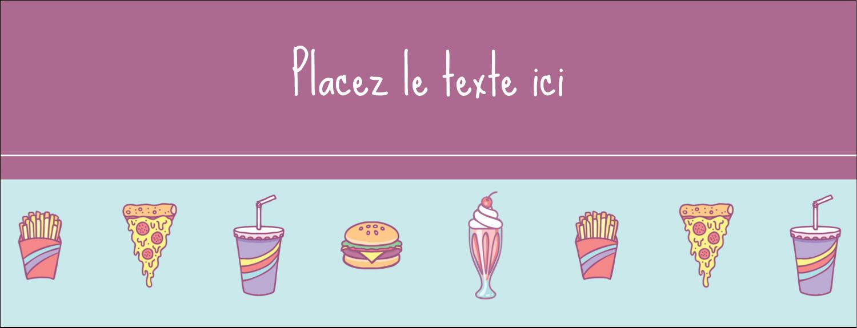 "1-7/16"" x 3¾"" Affichette - Malbouffe Motif"