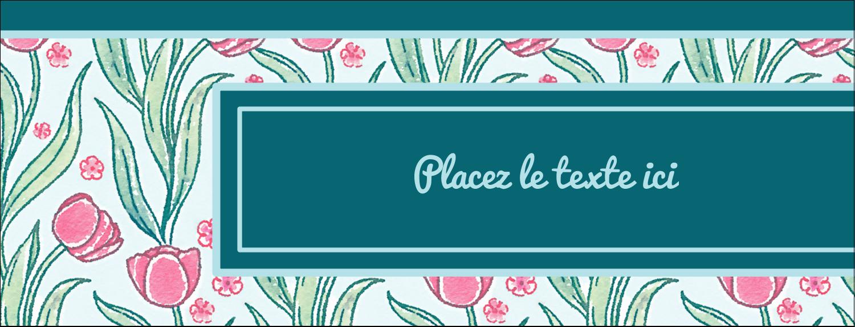 Fleurs picturales Affichette - gabarit prédéfini. <br/>Utilisez notre logiciel Avery Design & Print Online pour personnaliser facilement la conception.