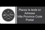 Trousse de toilette Étiquettes D'Adresse - gabarit prédéfini. <br/>Utilisez notre logiciel Avery Design & Print Online pour personnaliser facilement la conception.