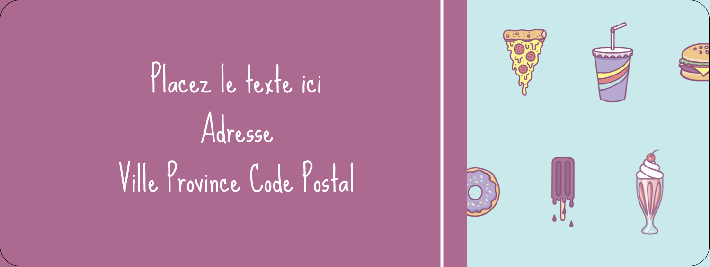 """⅔"""" x 1¾"""" Étiquettes D'Adresse - Malbouffe Motif"""