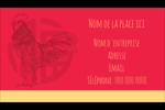 Année du coq Carte d'affaire - gabarit prédéfini. <br/>Utilisez notre logiciel Avery Design & Print Online pour personnaliser facilement la conception.