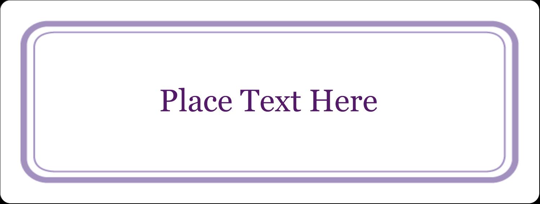 "2⅝"" x 1"" Fluorescent Label - Purple Swirls Pattern"