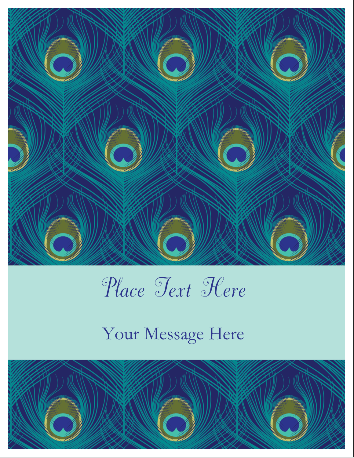 Add some flair to your next project with these pre-designed playful Peacock templates.