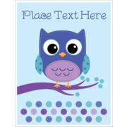Owl Dots Blue