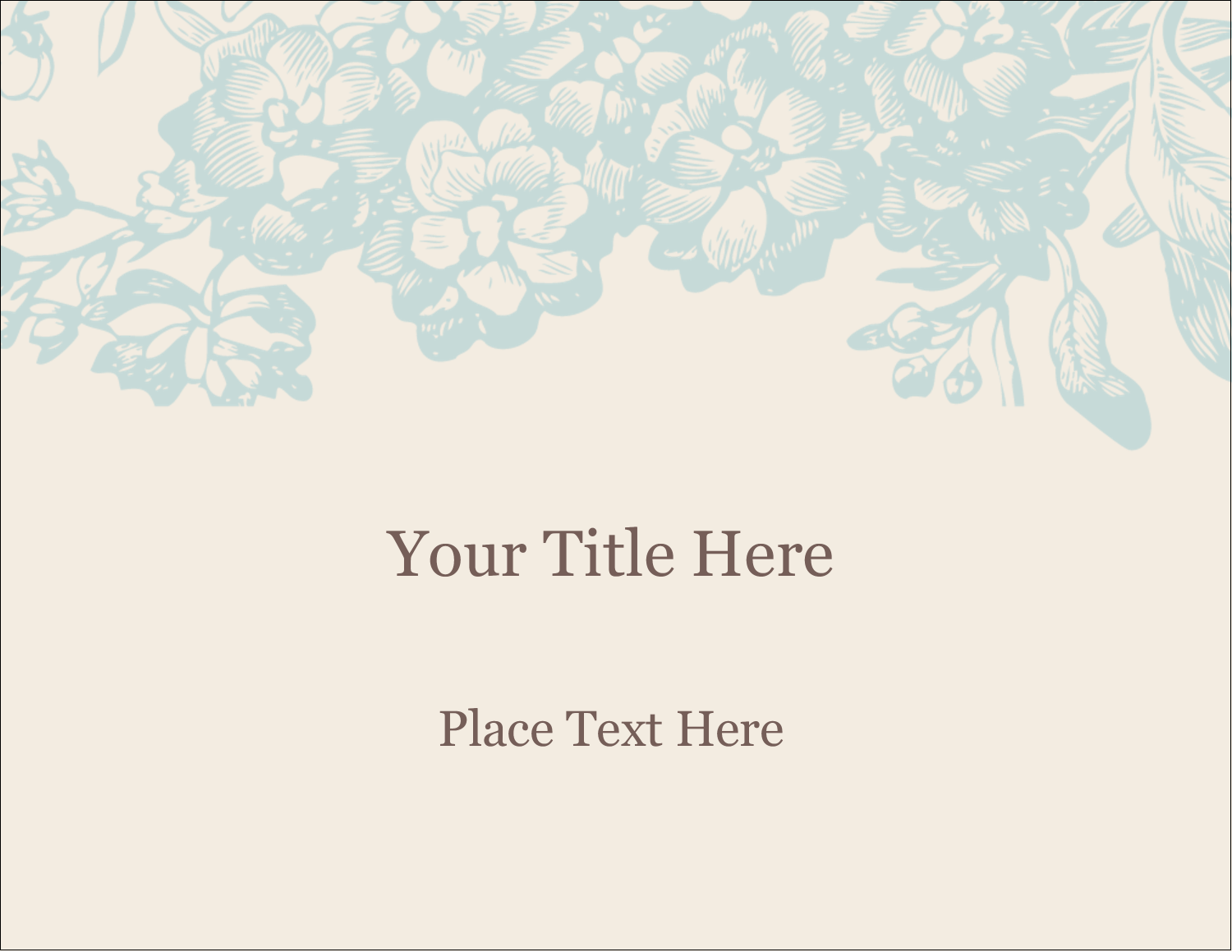 "11"" x 8½"" ID Label - Blue Flower"