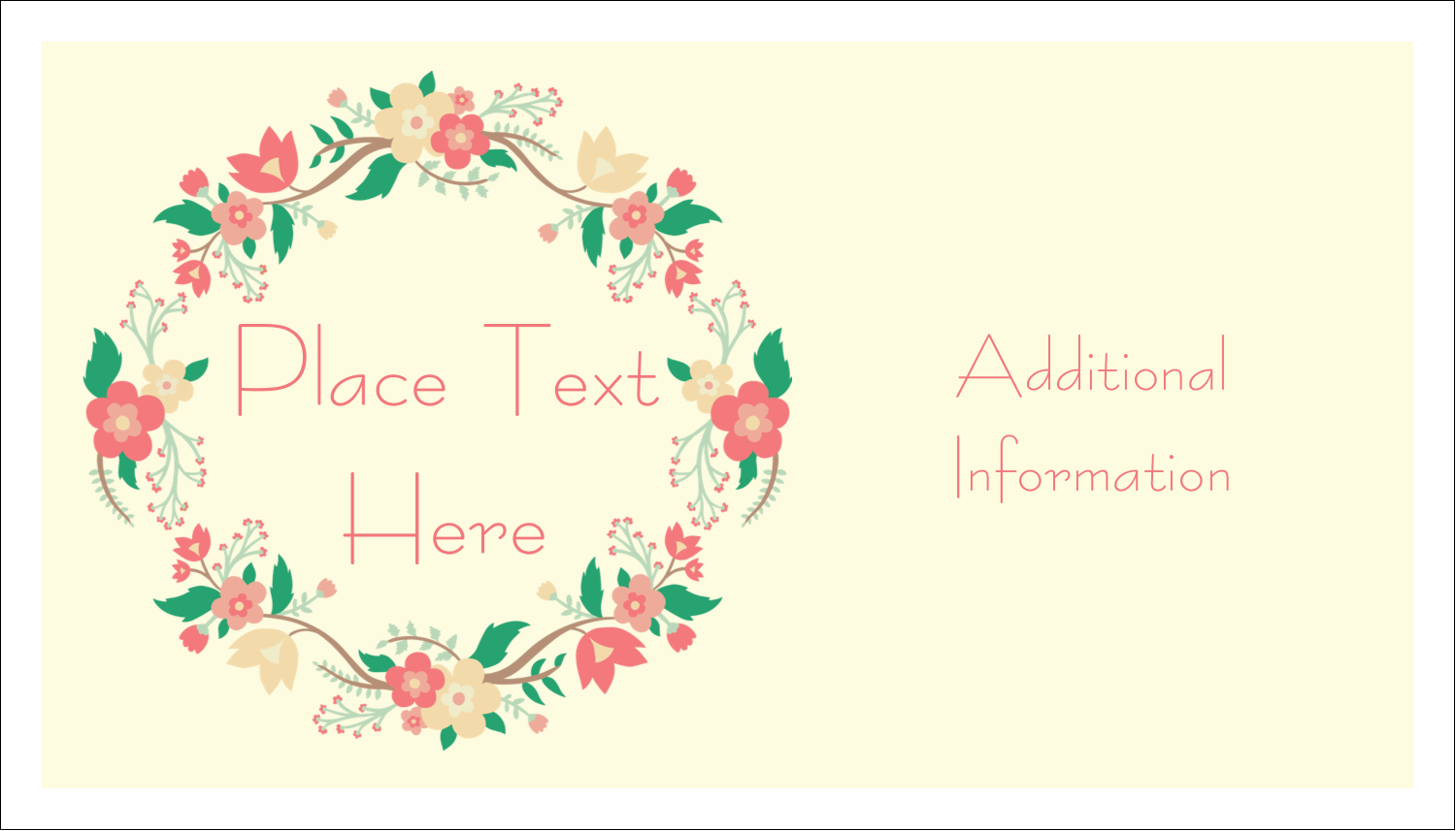 "2"" x 3½"" Business Card - Floral Wreath"