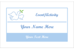 Keep it simple and peaceful with our Peace Dove pre-design template.