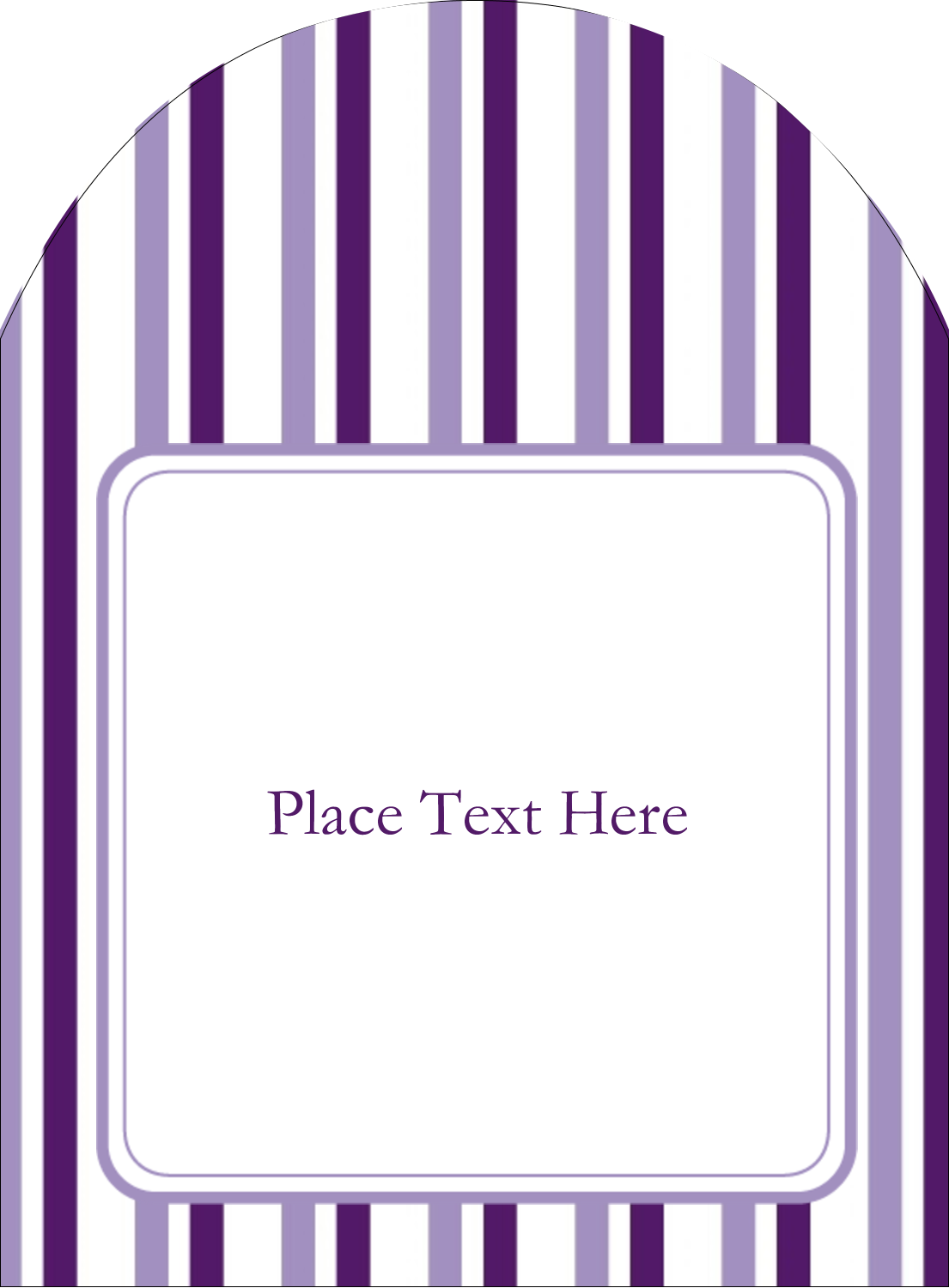 Liven up your party invitations with these royally vibrant Purple Stripes templates.