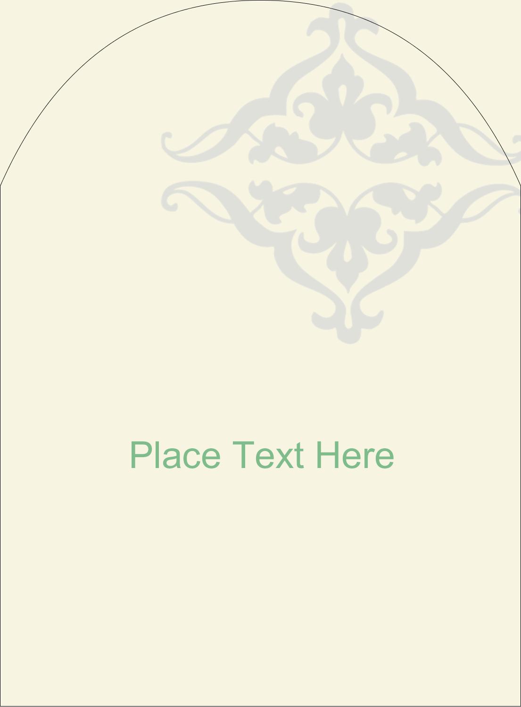 """4¾"""" x 3½"""" Arched Label - Wedding Scroll"""