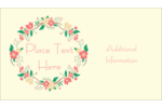 Add nature's beauty to custom projects with pre-designed Floral Wreath templates.