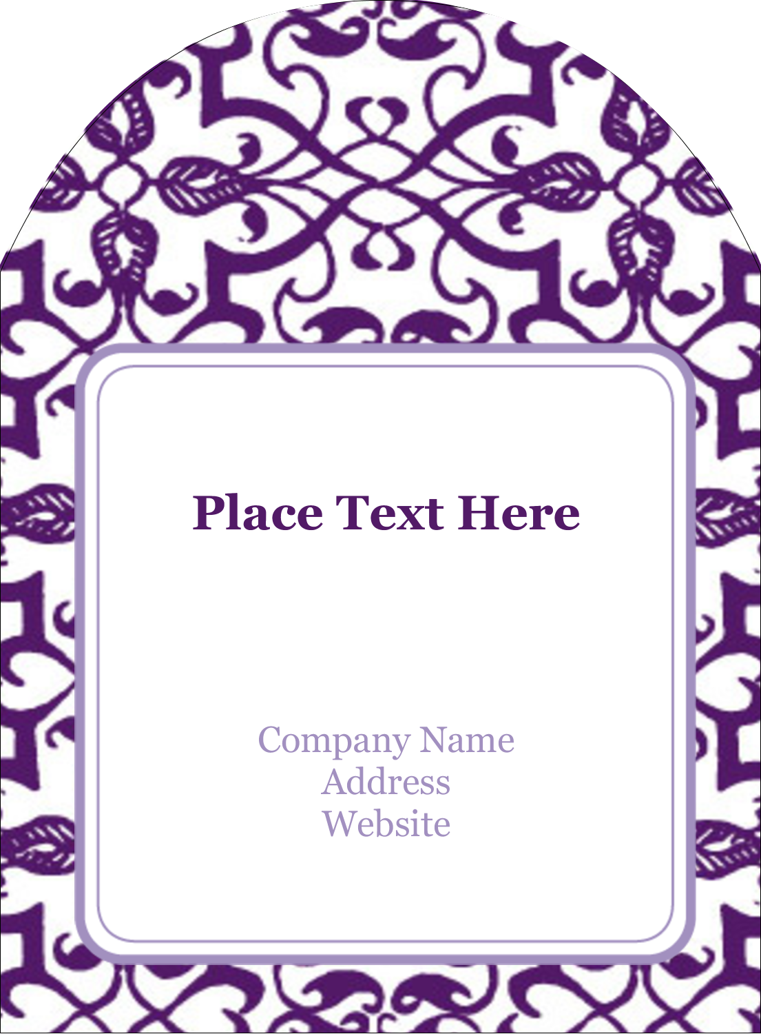 Embrace the elegance of these Purple Swirls Pattern templates for your next project!