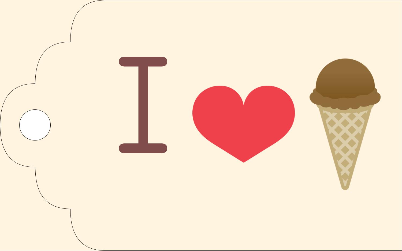 "2"" x 1⅛"" Printable Tags - Sweet Ice Cream"
