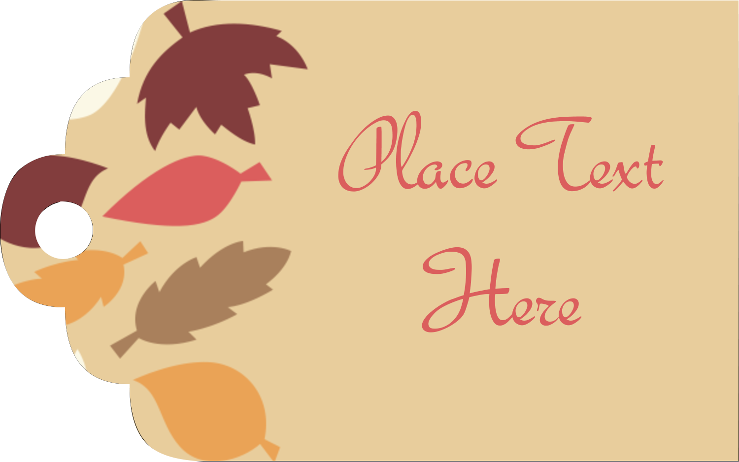 "2"" x 1⅛"" Printable Tags - Thanksgiving Fall Feathers"
