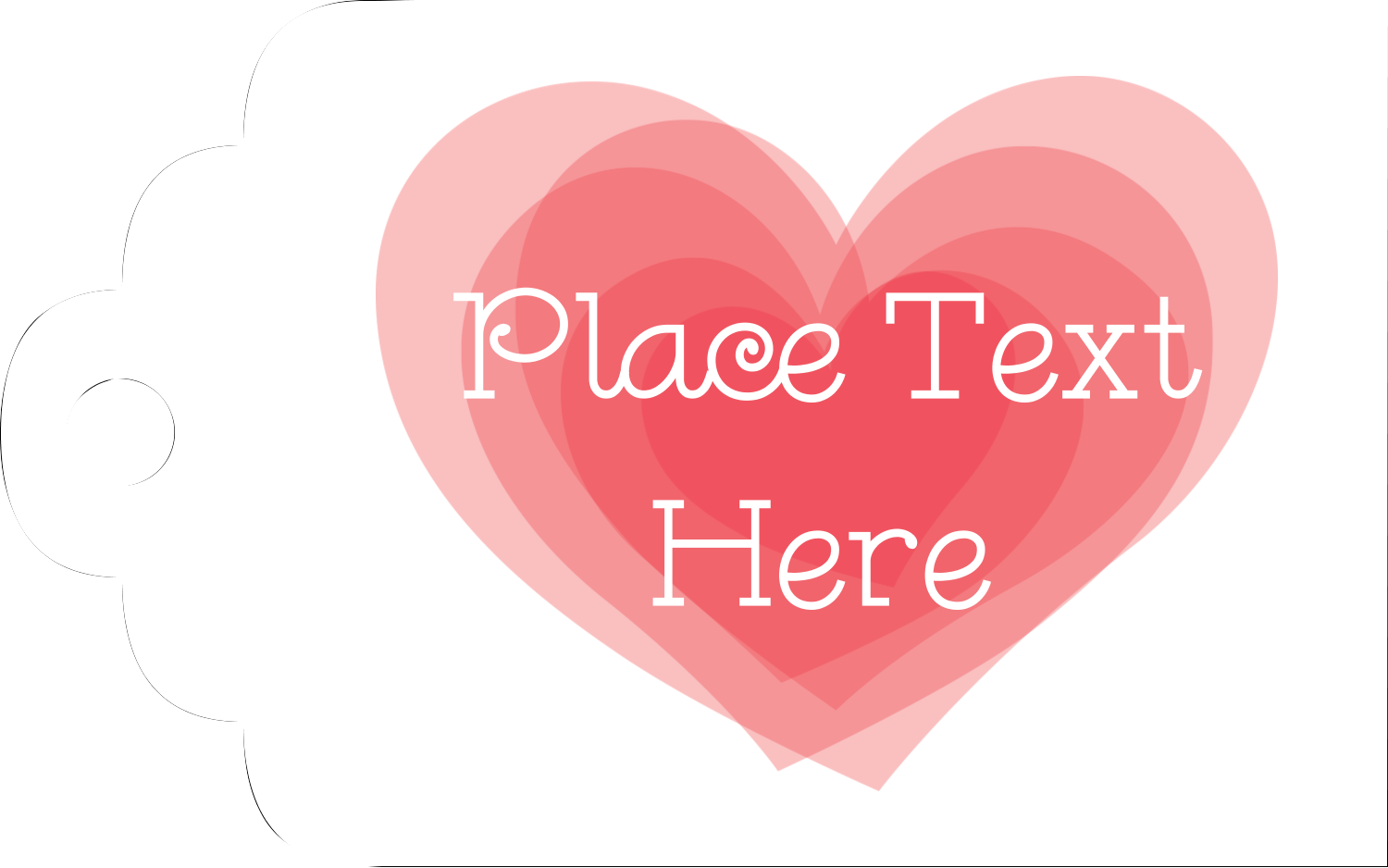 "2"" x 1⅛"" Printable Tags - Valentine's Day"