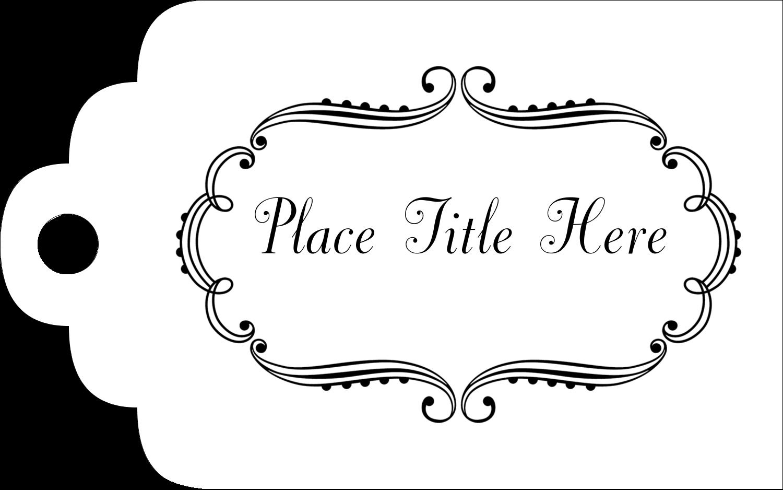 "2"" x 1⅛"" Printable Tags - Martha Stewart's Whimsical Wedding"