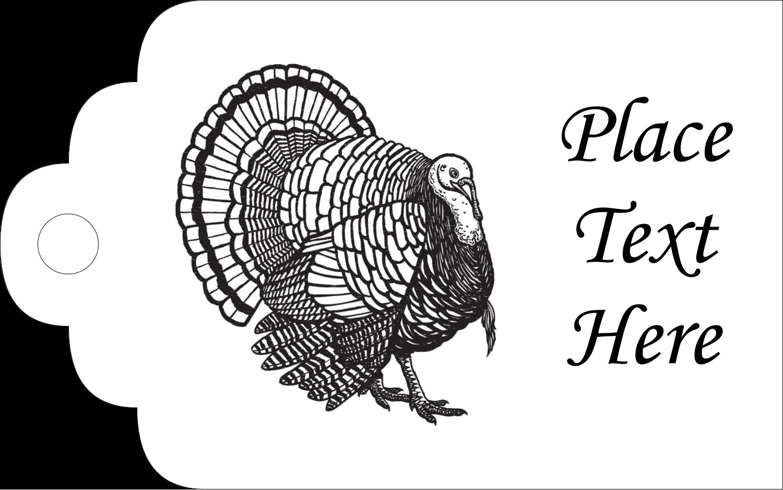 "2"" x 1⅛"" Printable Tags - Thanksgiving Vintage Turkey"