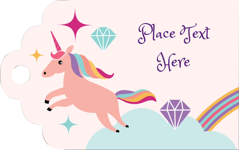 "2"" x 1⅛"" Printable Tags - Unicorn Party"