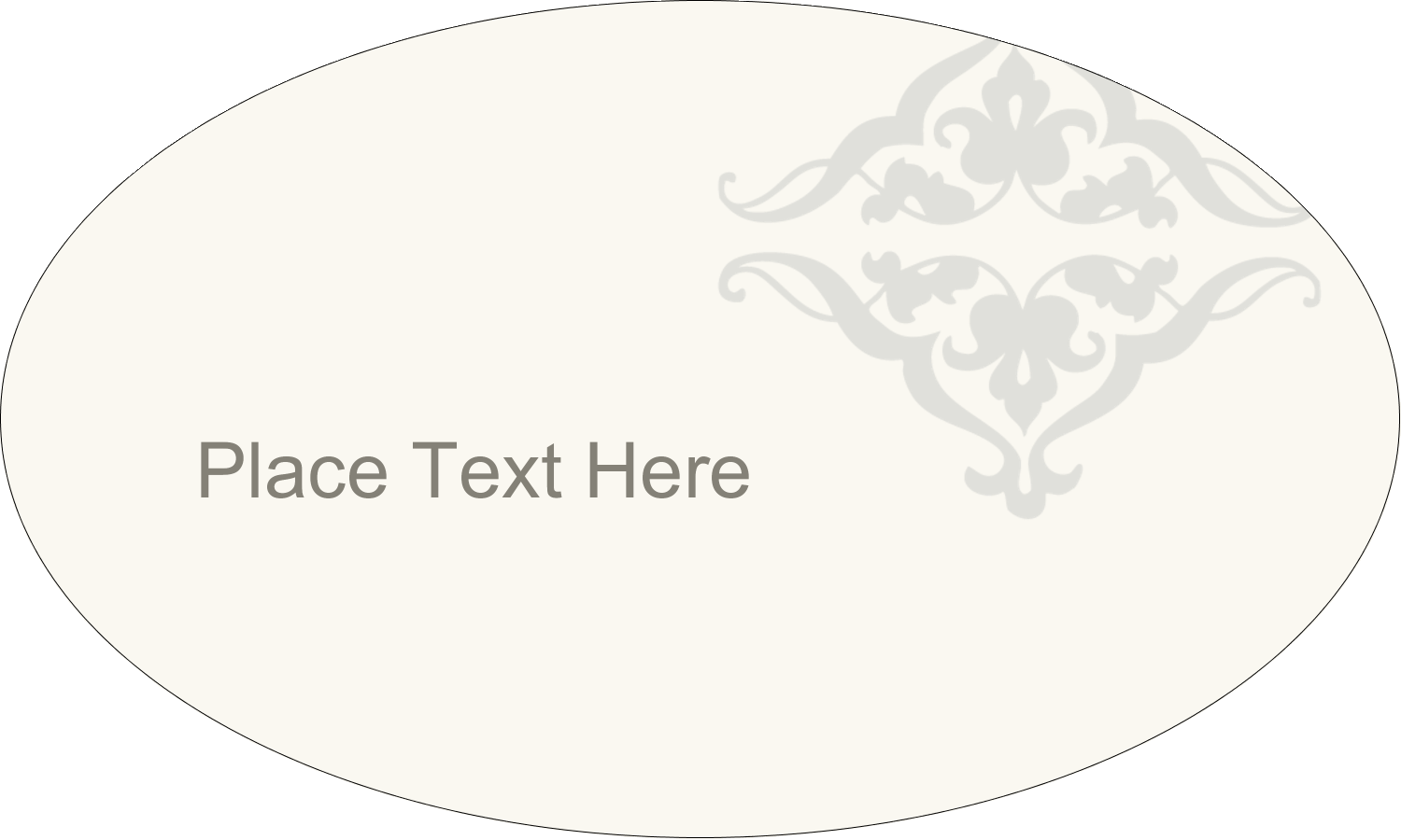 "1½"" x 2½"" Oval Glossy Label - Wedding Scroll"