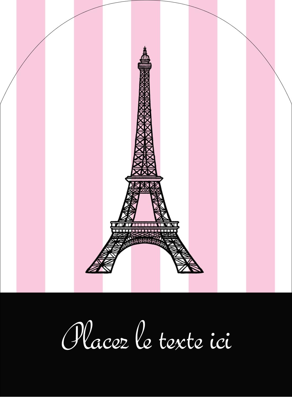 """4¾"""" x 3½"""" Étiquettes rectangulaires - Style parisien"""