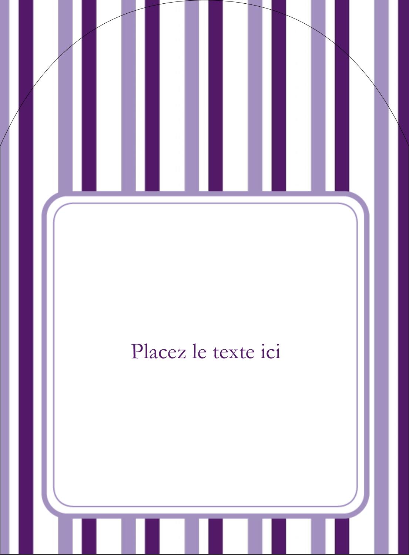 Rayures violettes Étiquettes rectangulaires - gabarit prédéfini. <br/>Utilisez notre logiciel Avery Design & Print Online pour personnaliser facilement la conception.