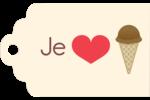 Crème glacée sucrée Étiquettes imprimables - gabarit prédéfini. <br/>Utilisez notre logiciel Avery Design & Print Online pour personnaliser facilement la conception.