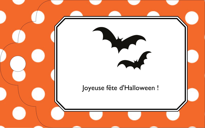 """2"""" x 1⅛"""" Étiquettes imprimables - Halloween d'enfant"""