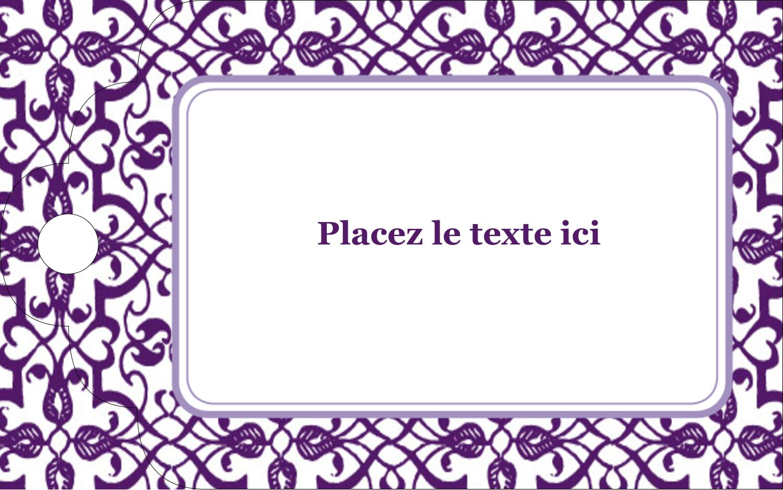 """2"""" x 1⅛"""" Étiquettes imprimables - Motif de tourbillons violets"""