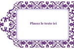 Motif de tourbillons violets Étiquettes imprimables - gabarit prédéfini. <br/>Utilisez notre logiciel Avery Design & Print Online pour personnaliser facilement la conception.