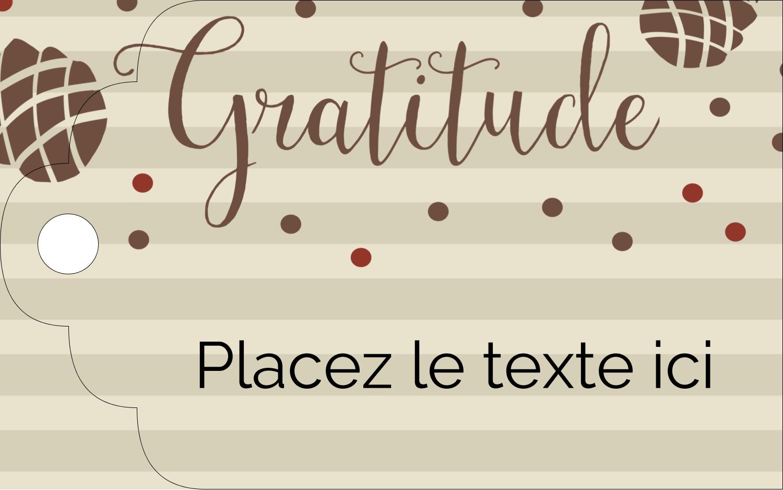 """2"""" x 1⅛"""" Étiquettes imprimables - Gratitude"""