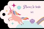 Licorne en fête Étiquettes imprimables - gabarit prédéfini. <br/>Utilisez notre logiciel Avery Design & Print Online pour personnaliser facilement la conception.