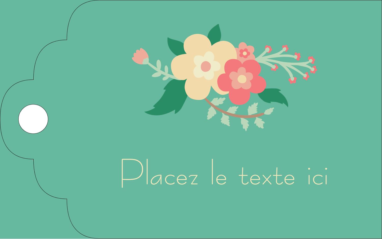 """2"""" x 1⅛"""" Étiquettes imprimables - Couronne florale"""
