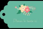 Couronne florale Étiquettes imprimables - gabarit prédéfini. <br/>Utilisez notre logiciel Avery Design & Print Online pour personnaliser facilement la conception.