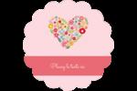 Cœurs et fleurs Étiquettes rondes - gabarit prédéfini. <br/>Utilisez notre logiciel Avery Design & Print Online pour personnaliser facilement la conception.
