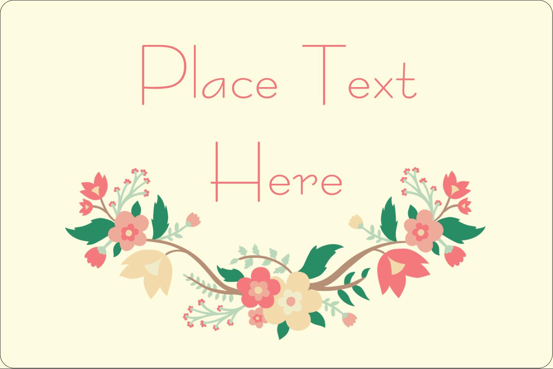"2"" x 3"" Rectangular Label - Floral Wreath"