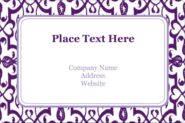 "2"" x 3"" Rectangular Label - Purple Swirls Pattern"